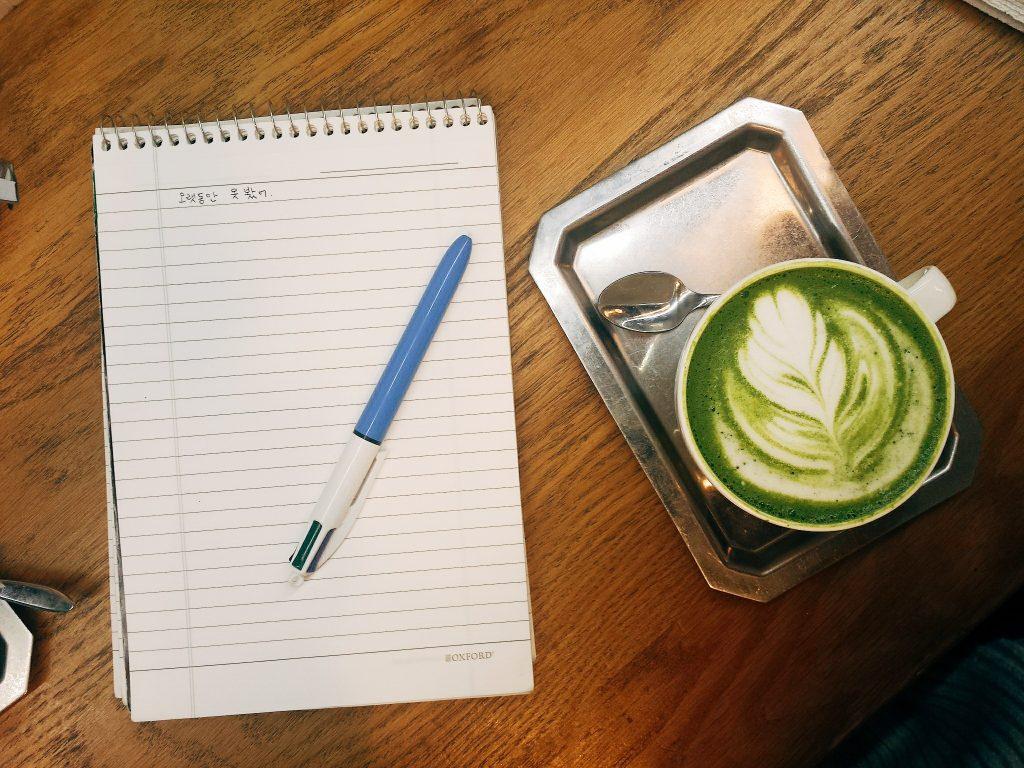 Études et Matcha Latte