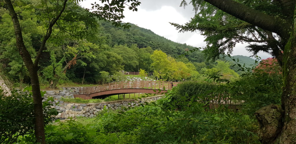 temple stay geumsansa arrivée pont