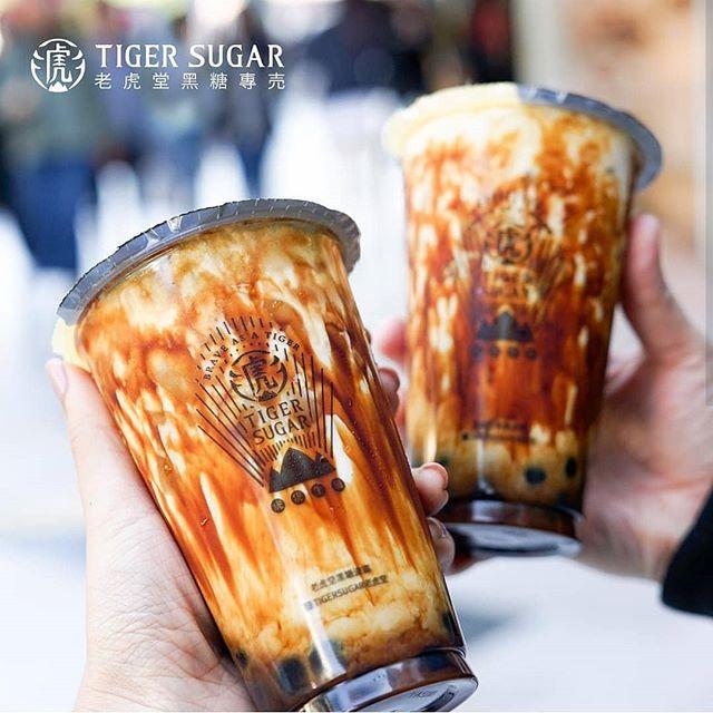 Photo Dirty brown sugar milk bubble tea de Tiger Sugar