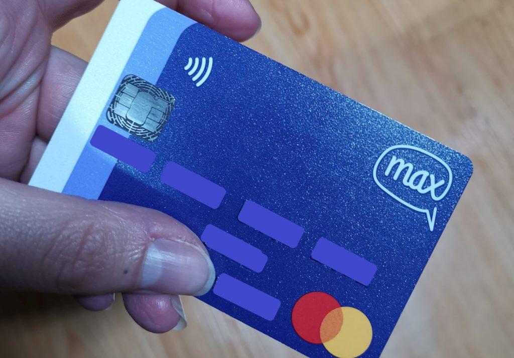 Mastercard d'un compte Max